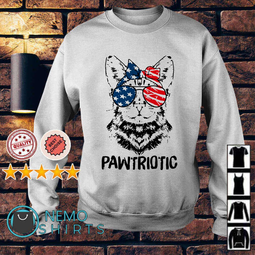 Cat pawtriotic American flag Independence Day Sweater