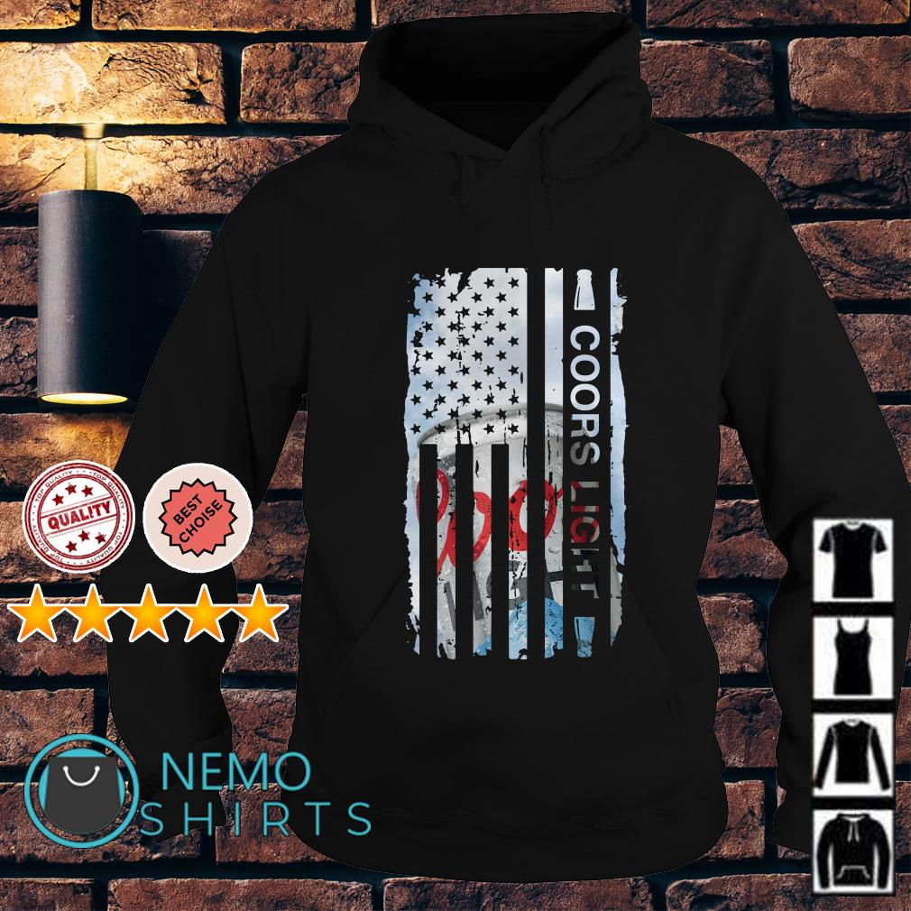 Coors Light independence day American flag Hoodie