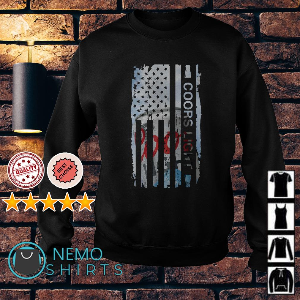 Coors Light independence day American flag Sweater
