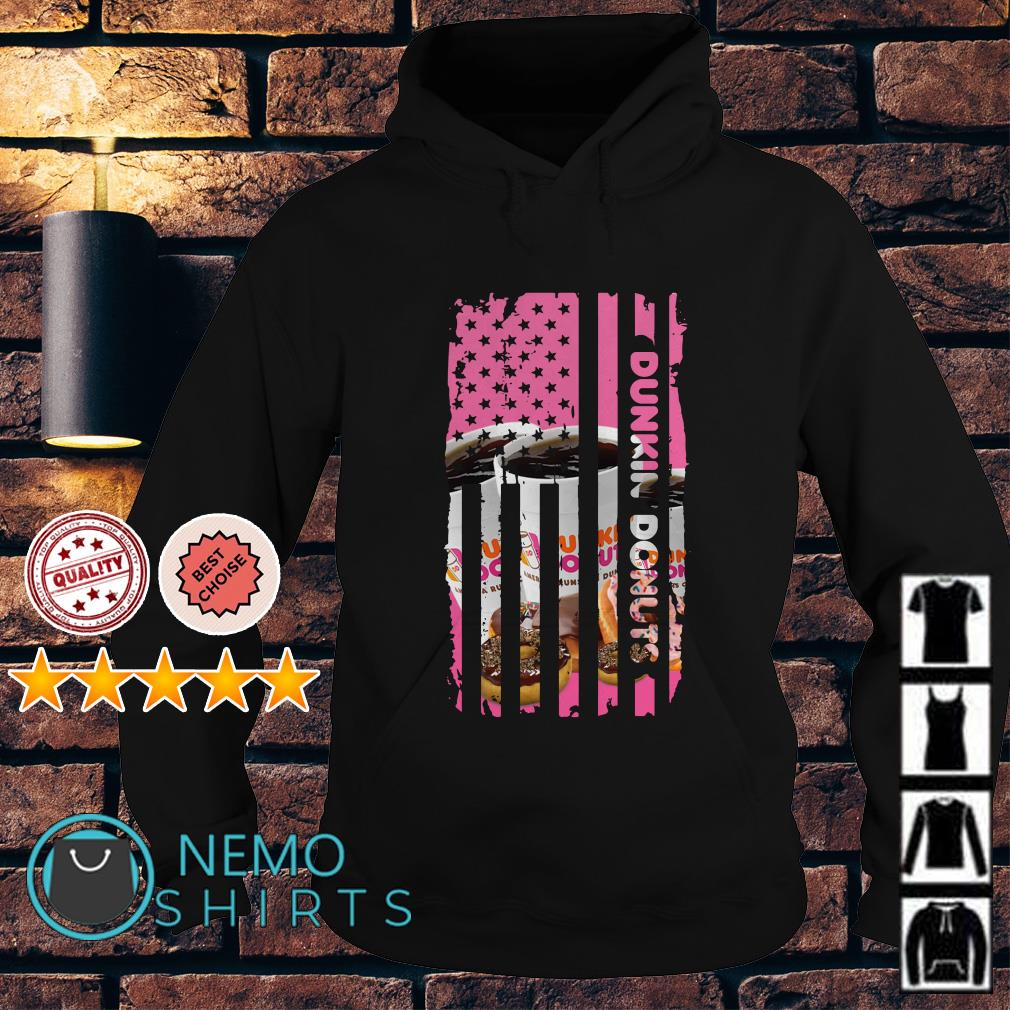 Dunkin Donuts America Flag Independence Day Hoodie