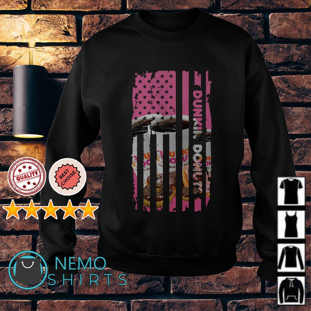 Dunkin Donuts America Flag Independence Day Sweater