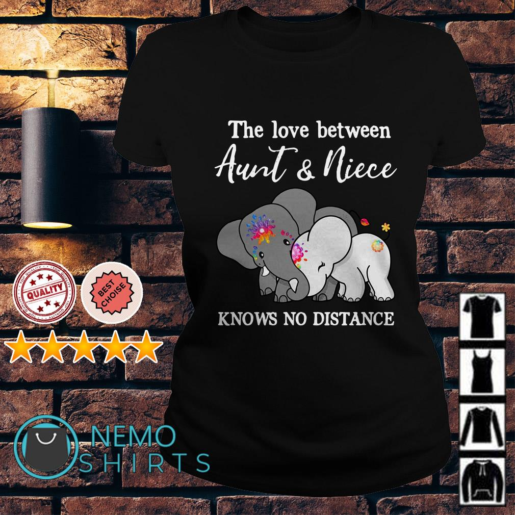 Elephants the love between Aunt and Niece knows no distance Ladies Tee