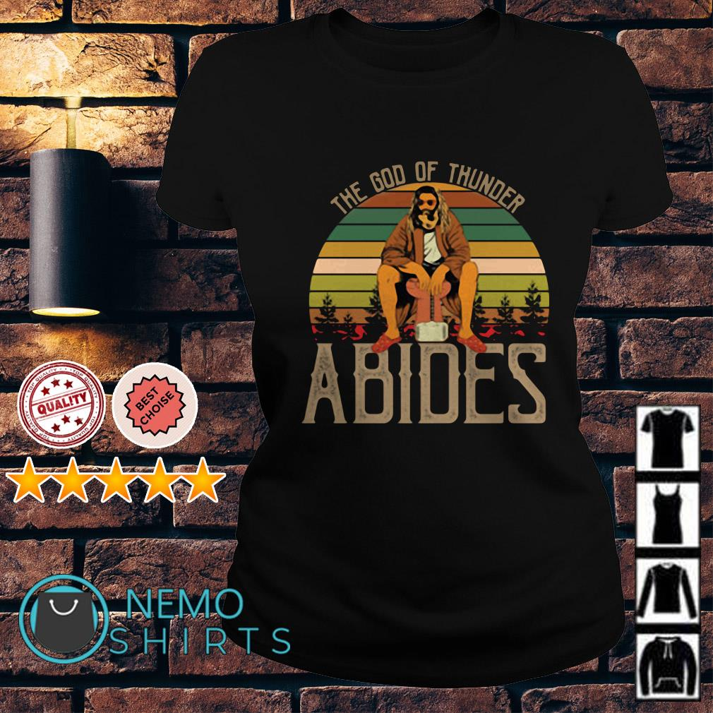 Fat Thor The god of thunder abides vintage Ladies Tee