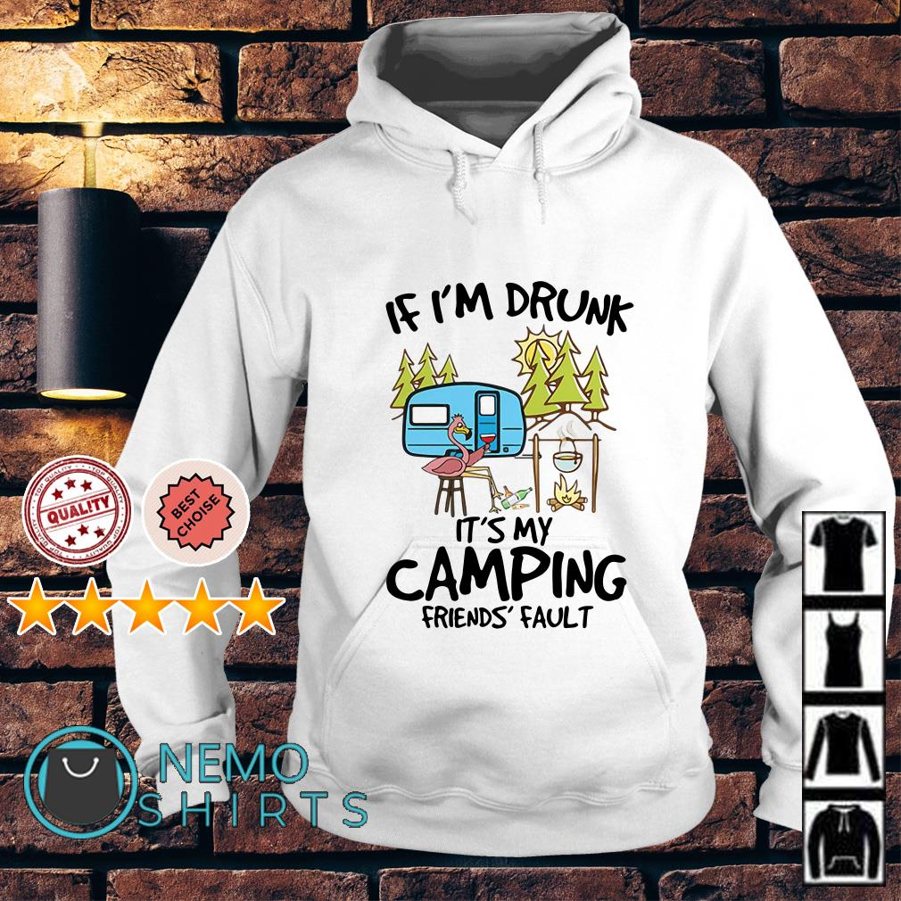 Flamingo if I'm drunk it's my camping friends fault Hoodie