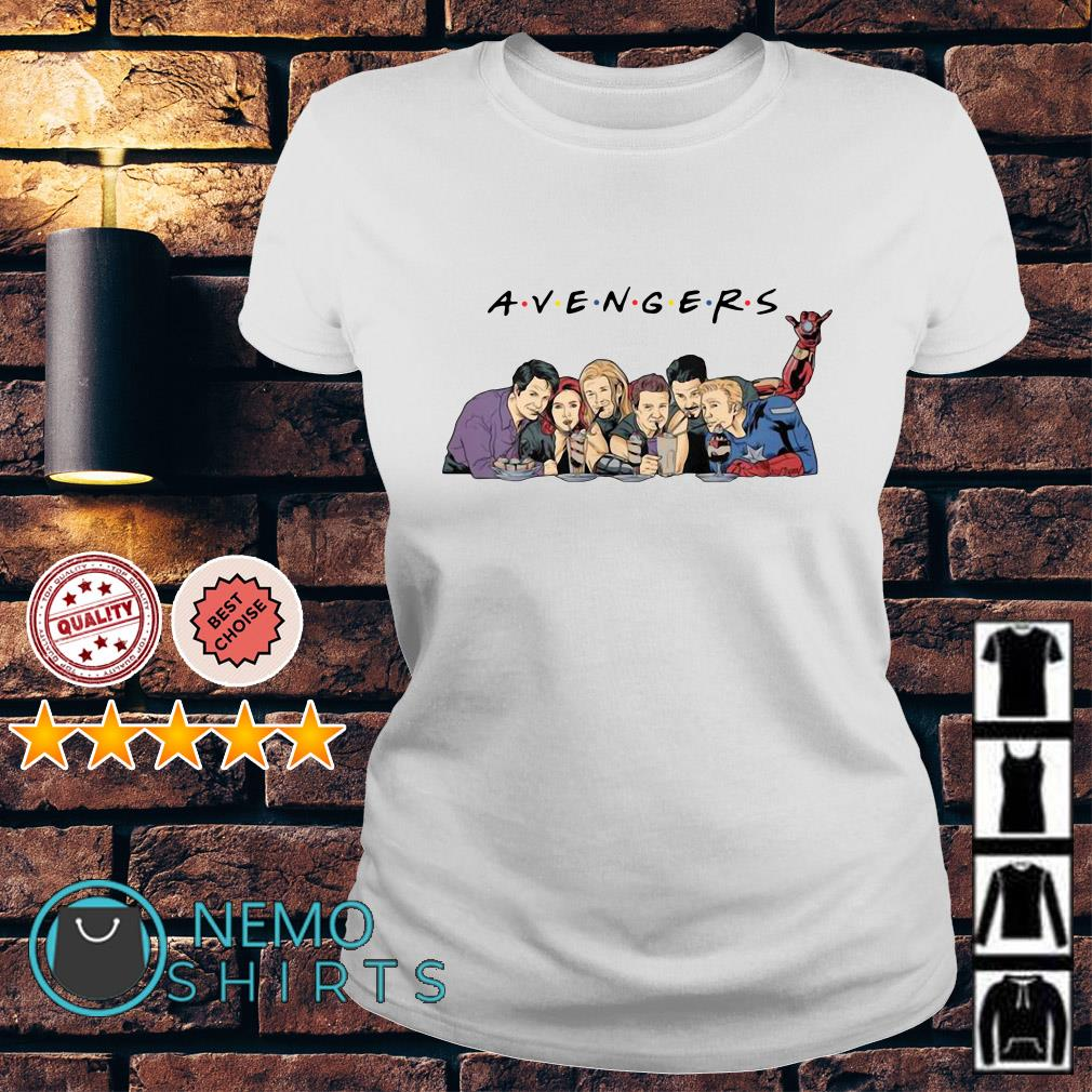 Friends TV show mashup Avengers Ladies tee