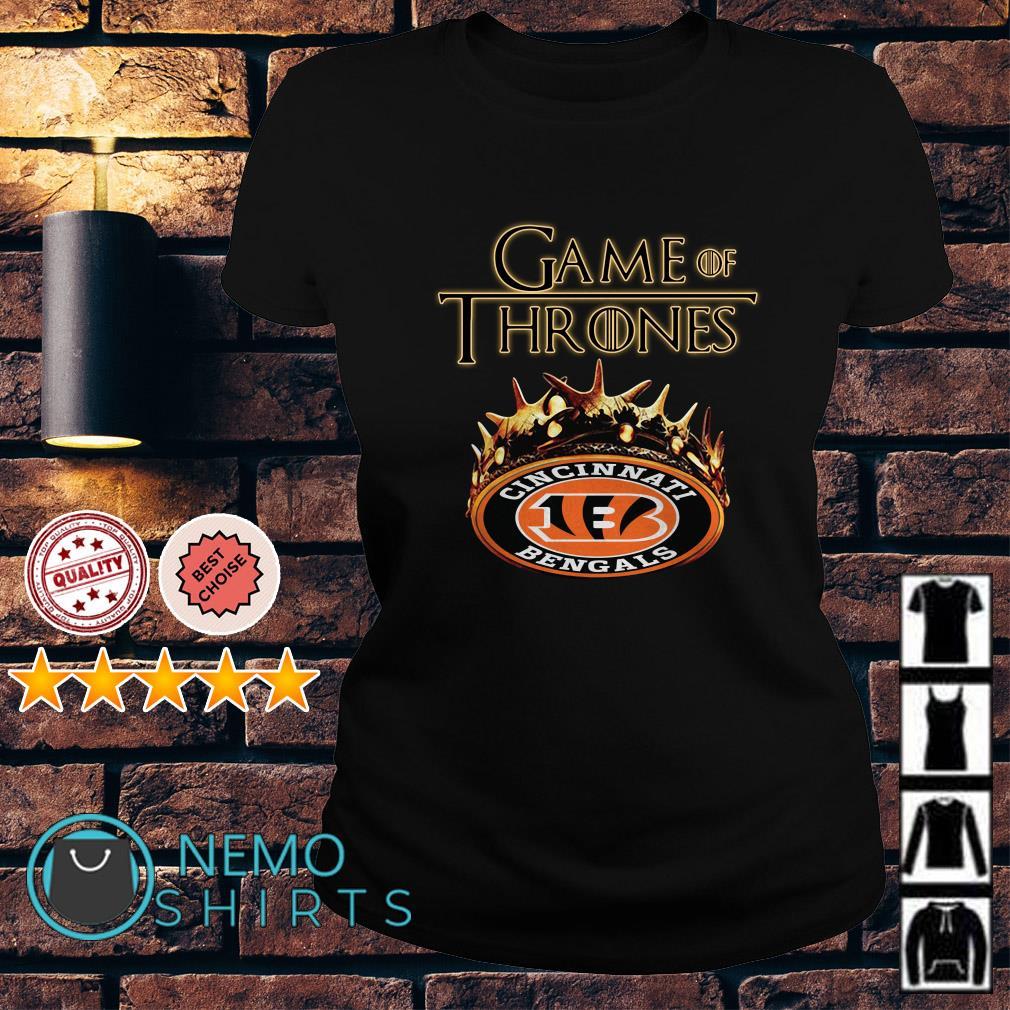 Game of Thrones Cincinnati Bengals mashup Ladies tee