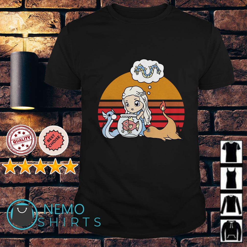 Game Of Thrones Daenerys Targaryen pokemon chibi vintage shirt
