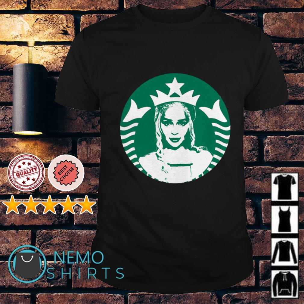 Game Of Thrones Daenerys Targaryen Starbucks logo mashup shirt