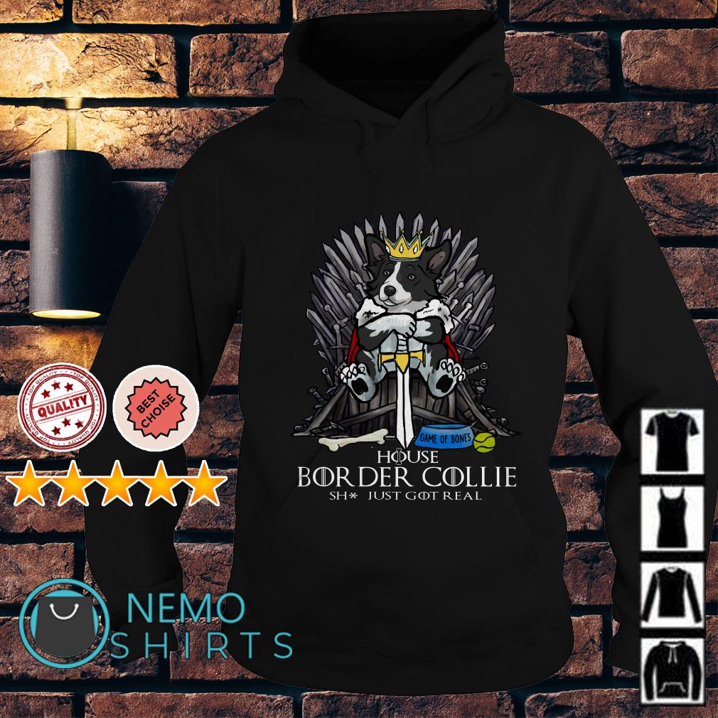 Game of Thrones House Border Collie shit just GOT real Hoodie