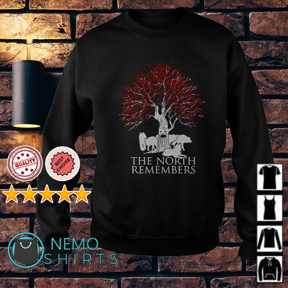 Game of Thrones Jon Snow wolf the north remembers Sweater