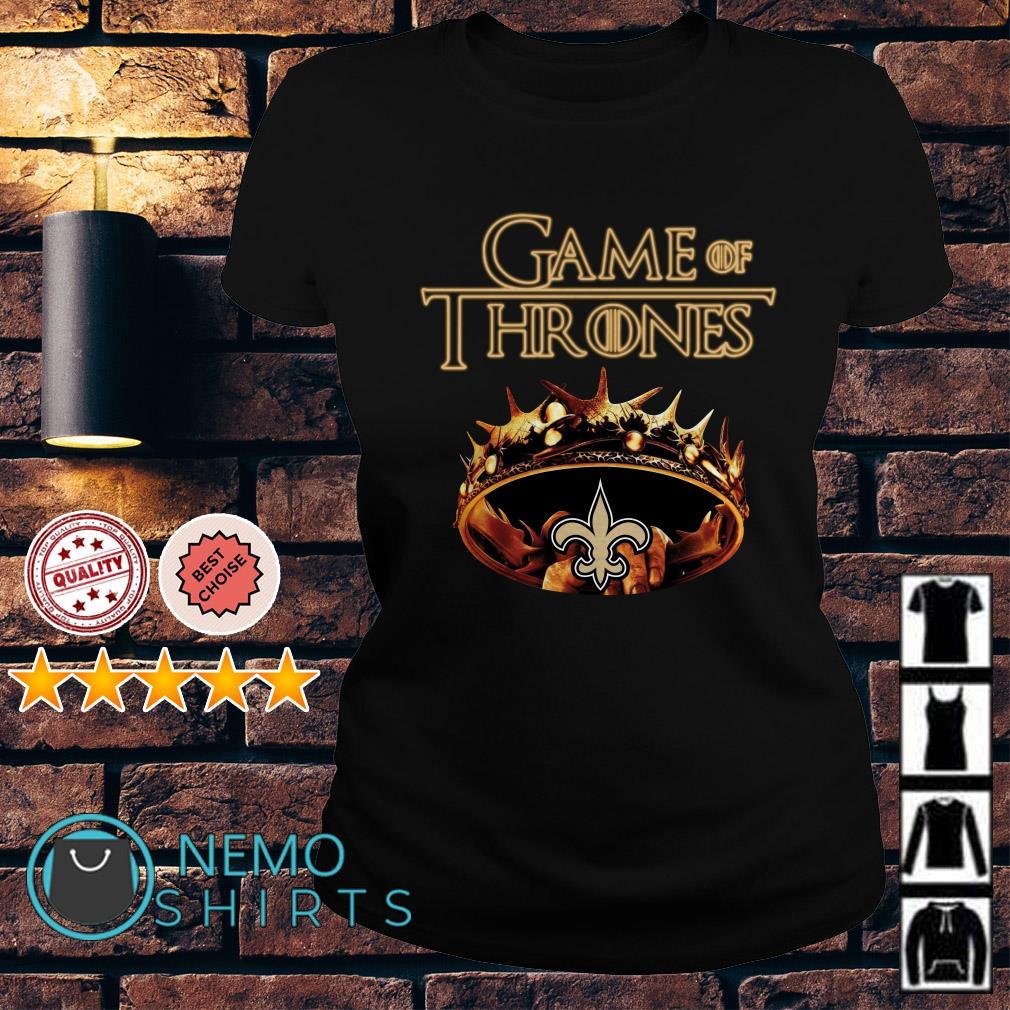 Game of Thrones New Orleans Saints mashup Ladies tee