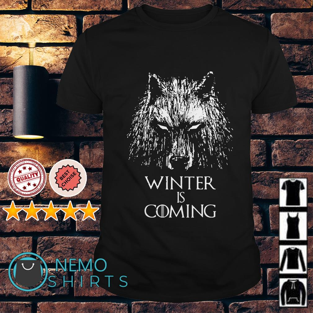 Game of Thrones wolf winter is coming shirt