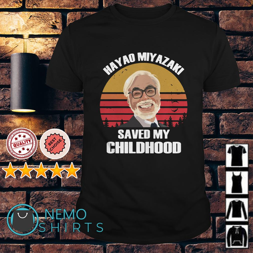Hayao Miyazaki saved my childhood sunset shirt