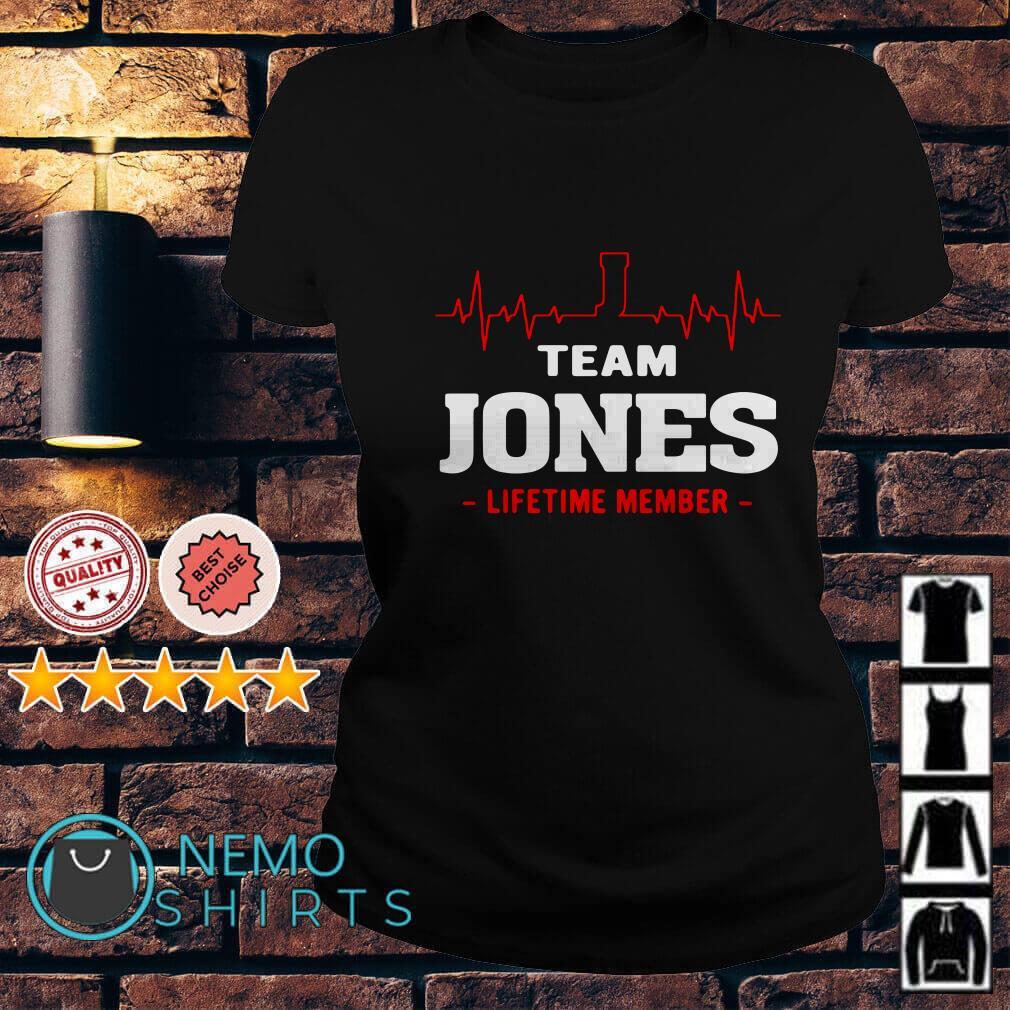 Heartbeat J team Jones lifetime member Ladies tee