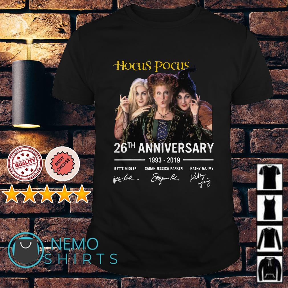 Hocus Pocus 26th anniversary 1993 - 2019 shirt