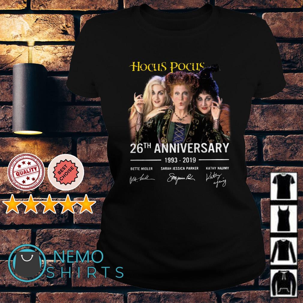 Hocus Pocus 26th anniversary 1993 2019 signature Ladies tee