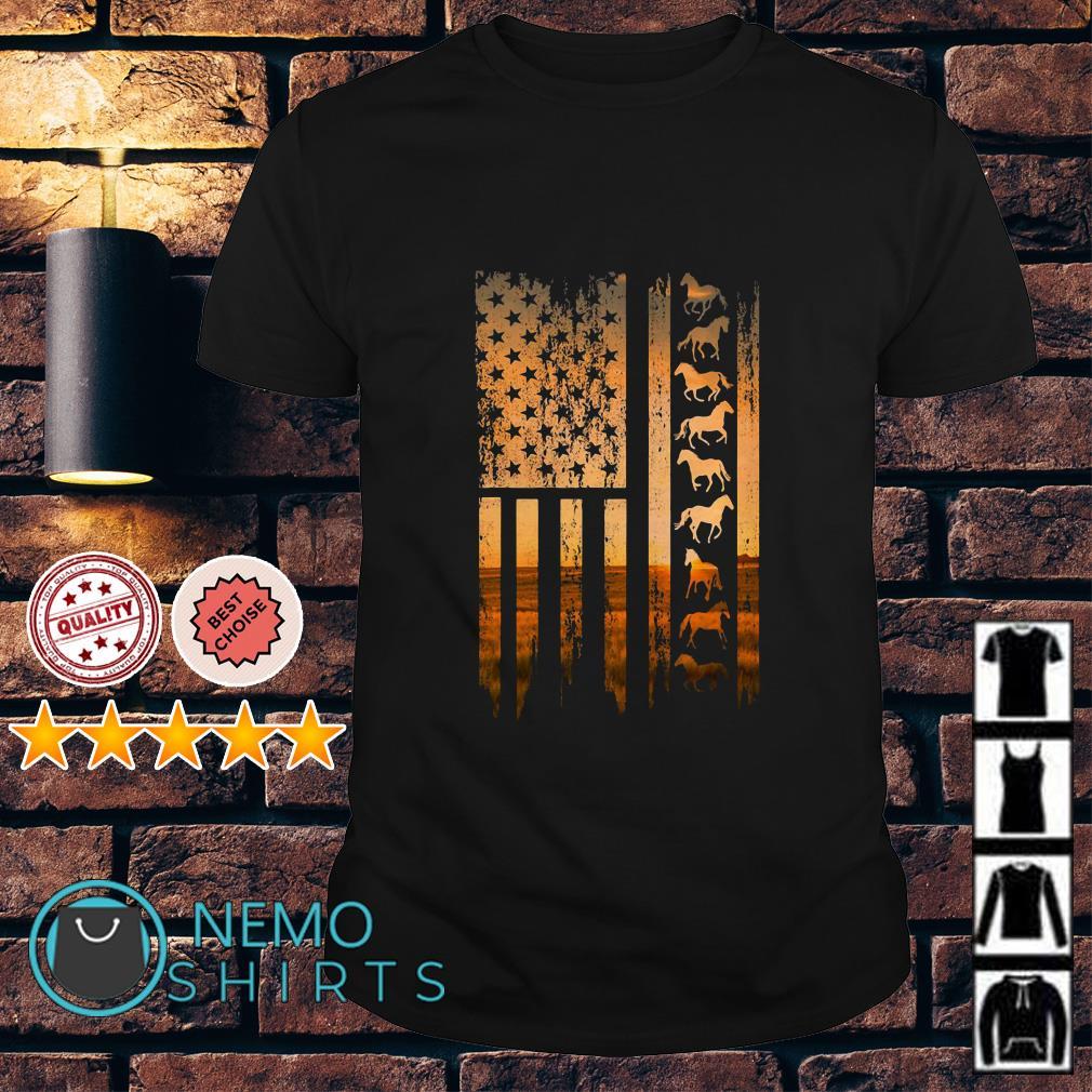 Horse American flag vintage shirt