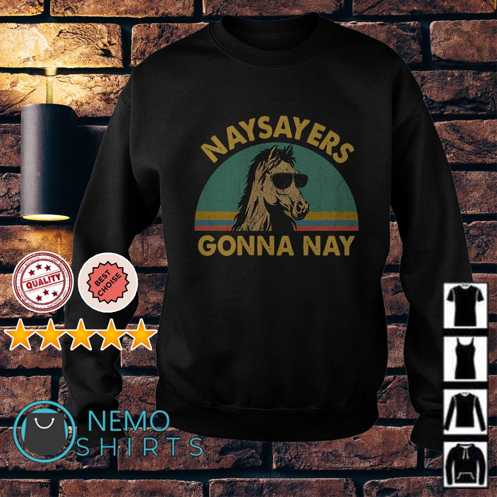 Horse naysayers gonna nay vintage Sweater