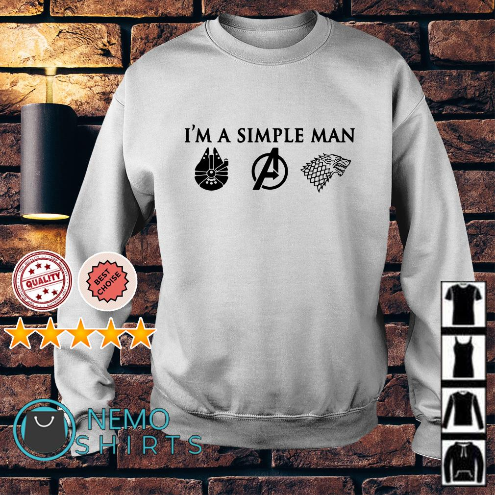 I'm a simple man I like Star Wars Avengers and Game of Thrones Sweater