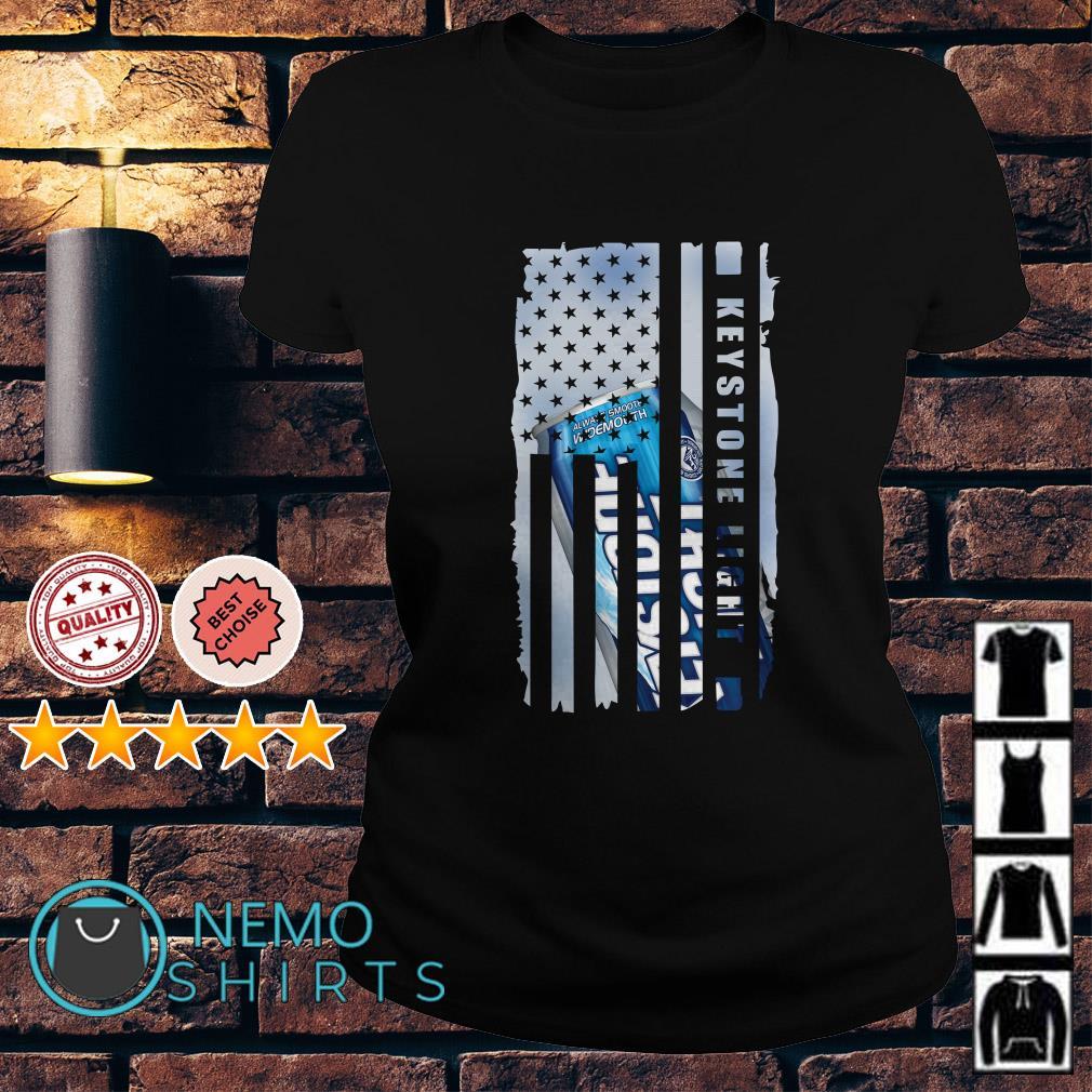 Keystone Light America Independence Day Flag Ladies tee