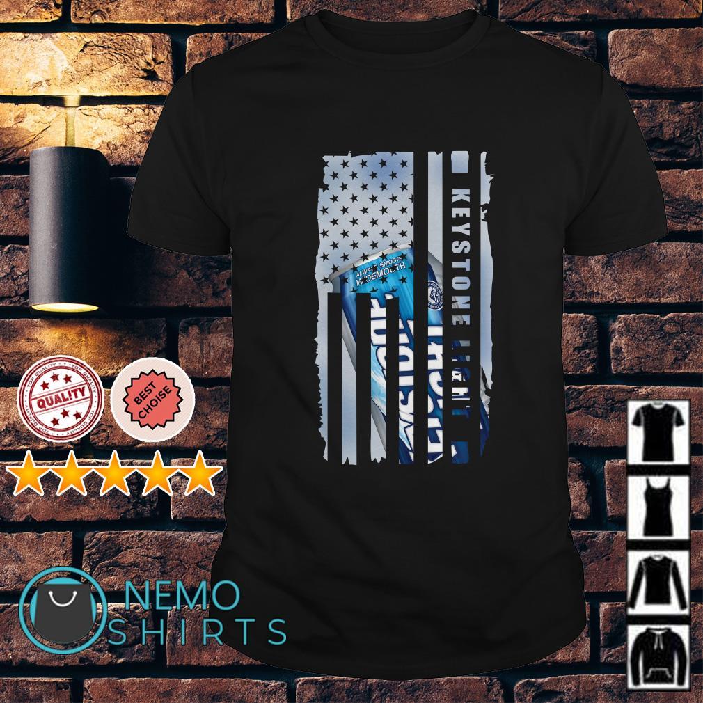 Keystone Light America Independence Day Flag shirt