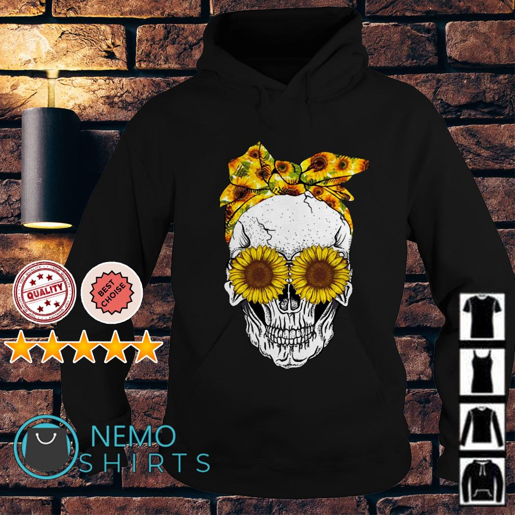 Lady Skull sunflower Hoodie