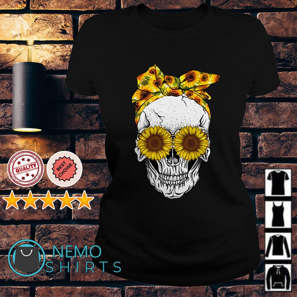 Lady Skull sunflower Ladies Tee