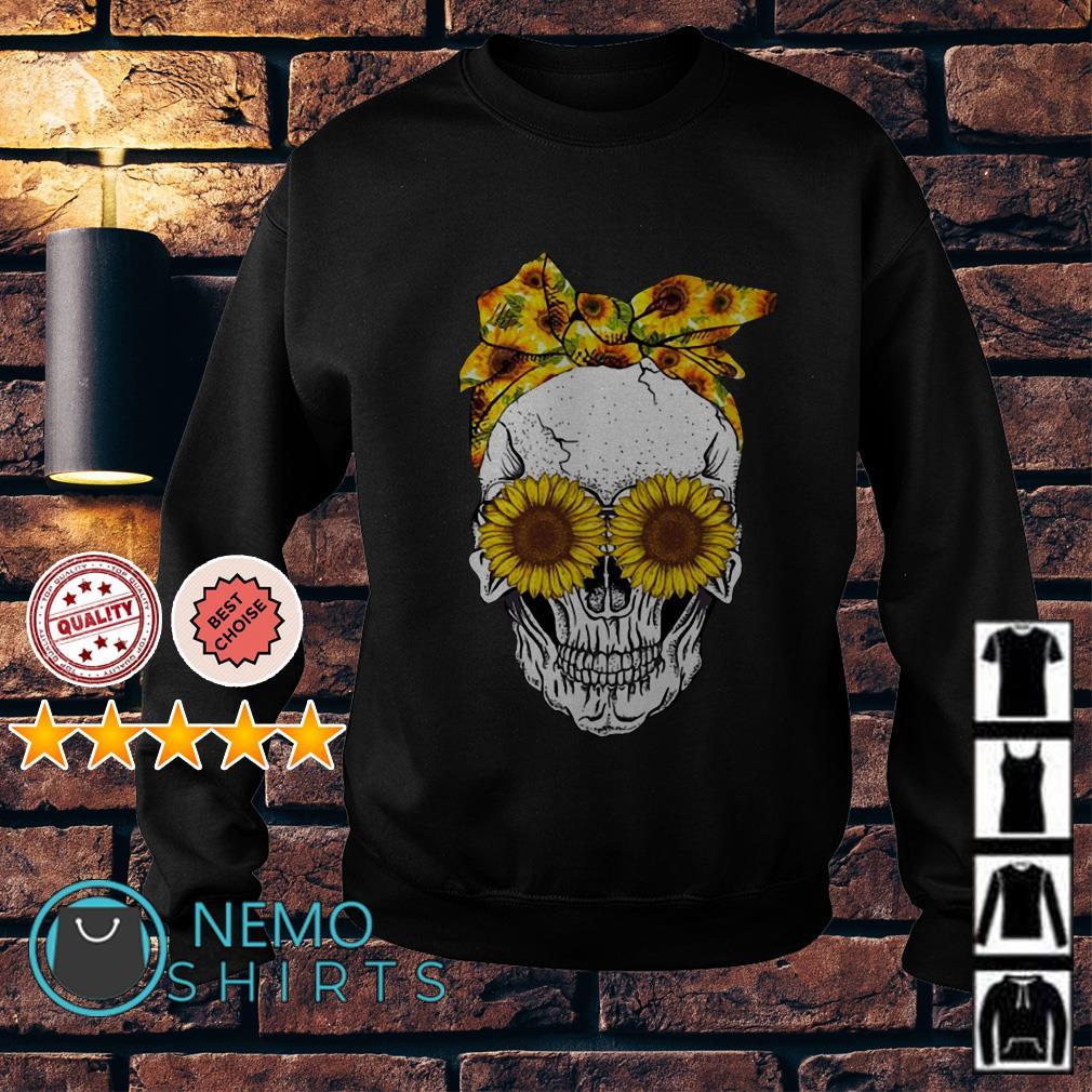 Lady Skull sunflower Sweater