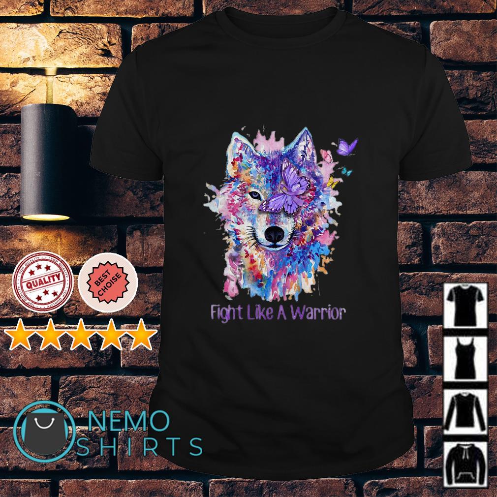Lupus Awareness Wolf fight like a warrior shirt