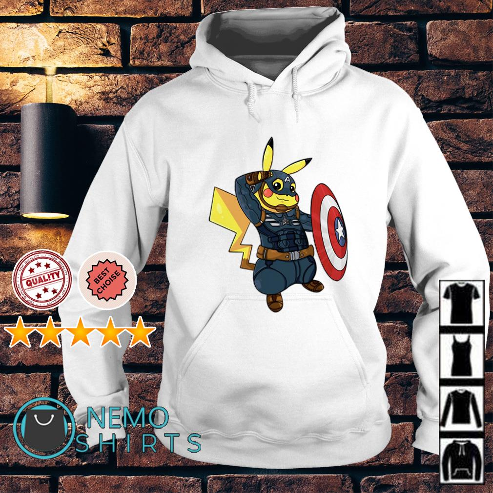 82256f53 Marvel Avengers Captain America Pikachu shirt, hoodie and v-neck t-shirt