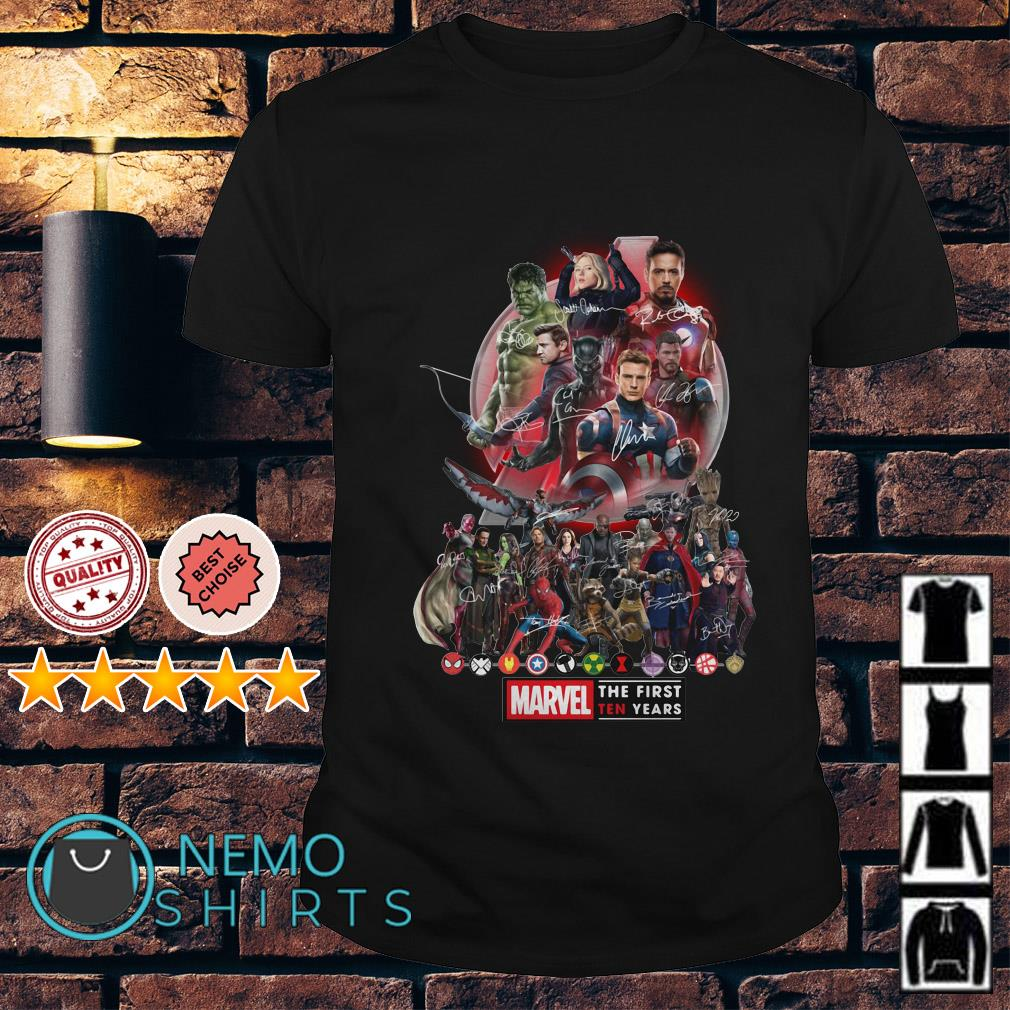 Marvel Avengers Endgame the first ten years shirt