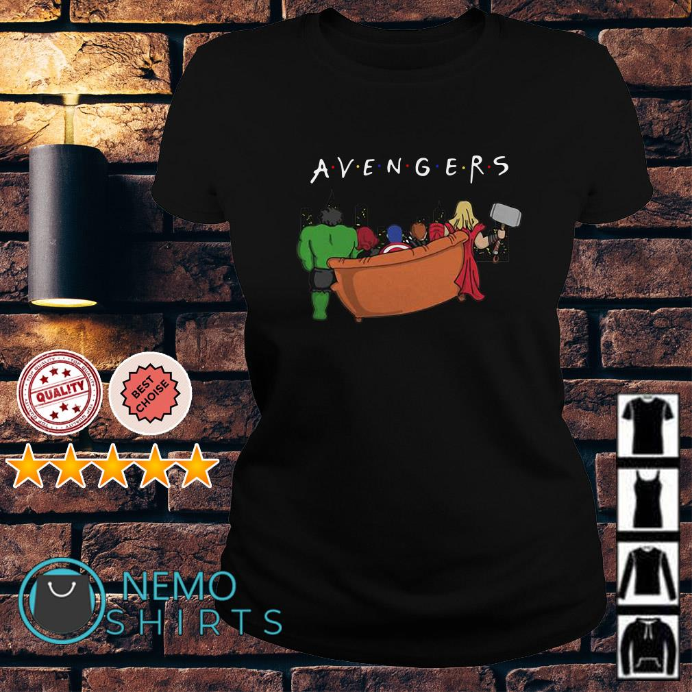 Marvel Avengers Endgame parody Friends TV show Ladies tee
