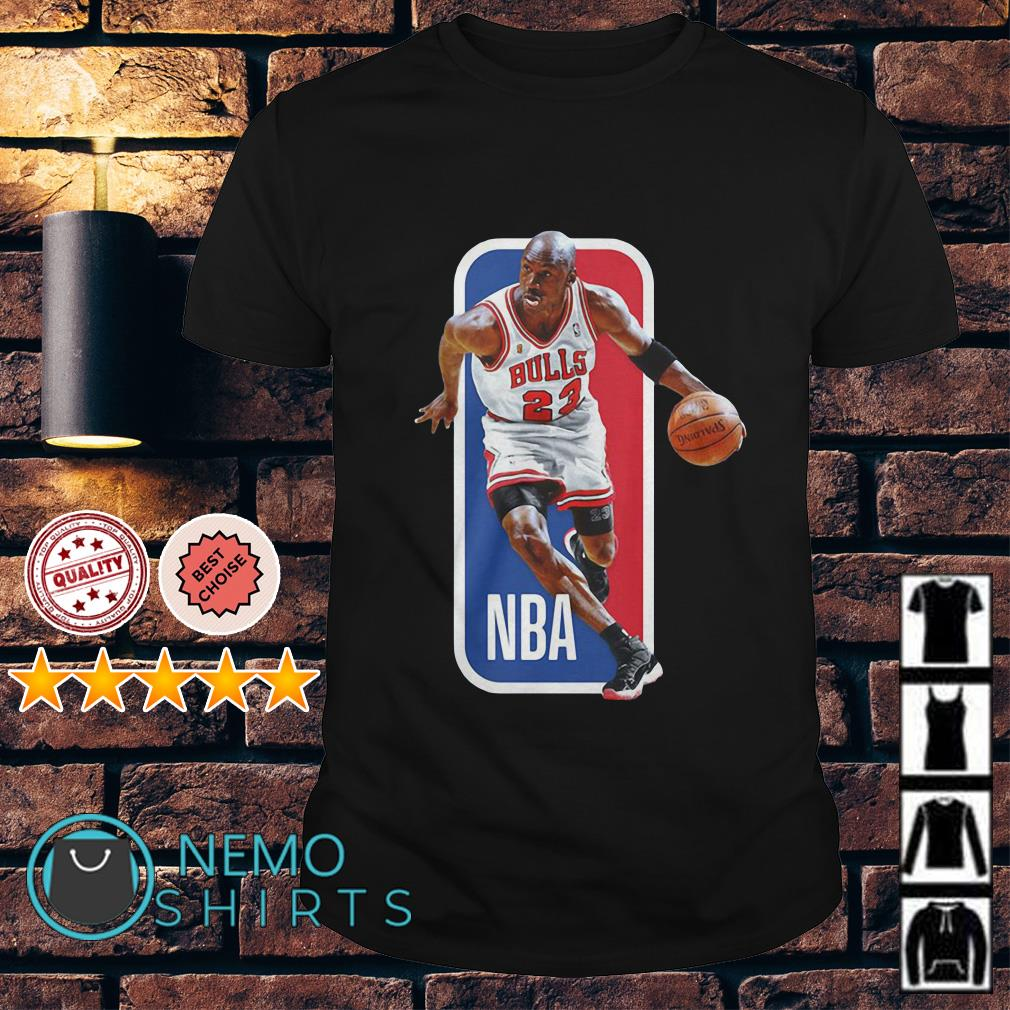 Michael Jordan Chicago Bulls NBA playing basketball shirt