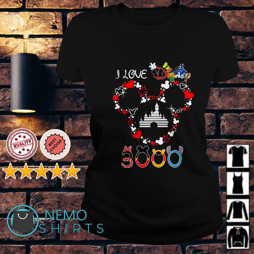 Mickey mouse I live Disney 3000 Ladies tee