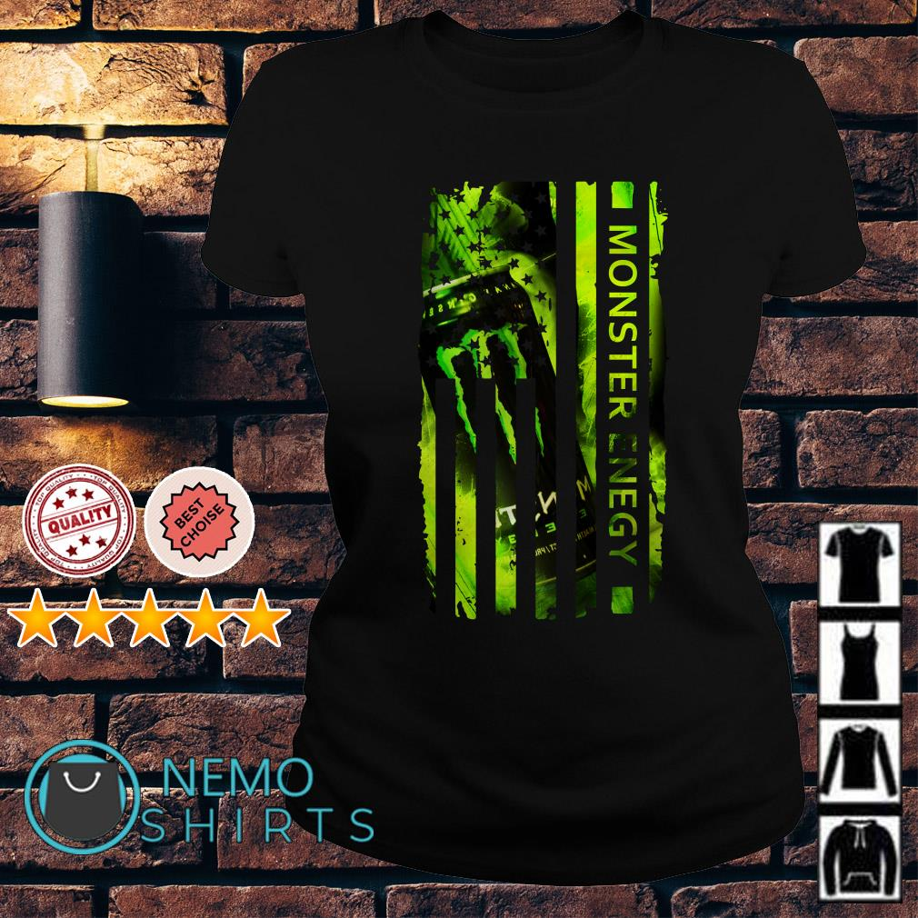 Monster Energy America Independence Day Flag Ladies tee