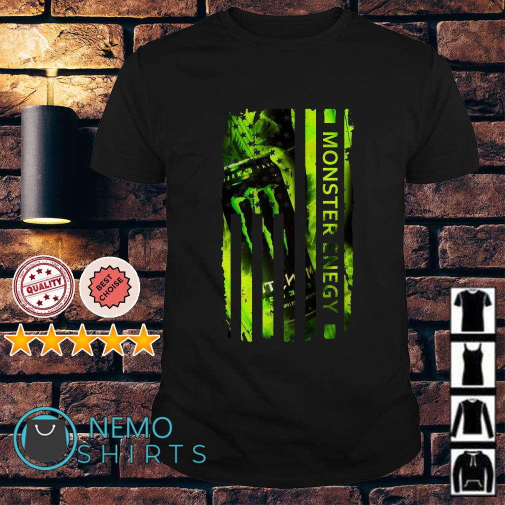 Monster Energy America Independence Day Flag shirt
