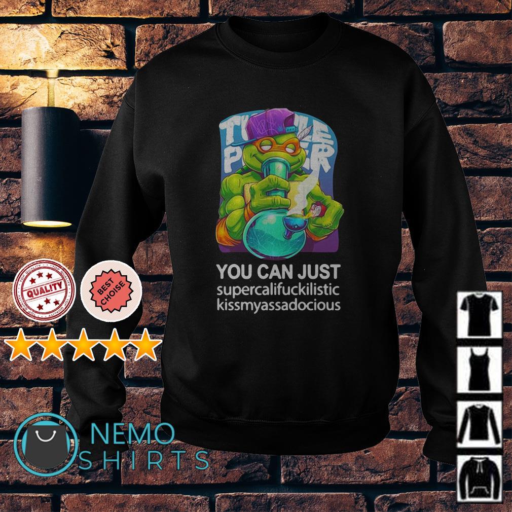 Ninja Turtles smoking weed you can just supercalifuckilistic kissmyassadocious Sweater