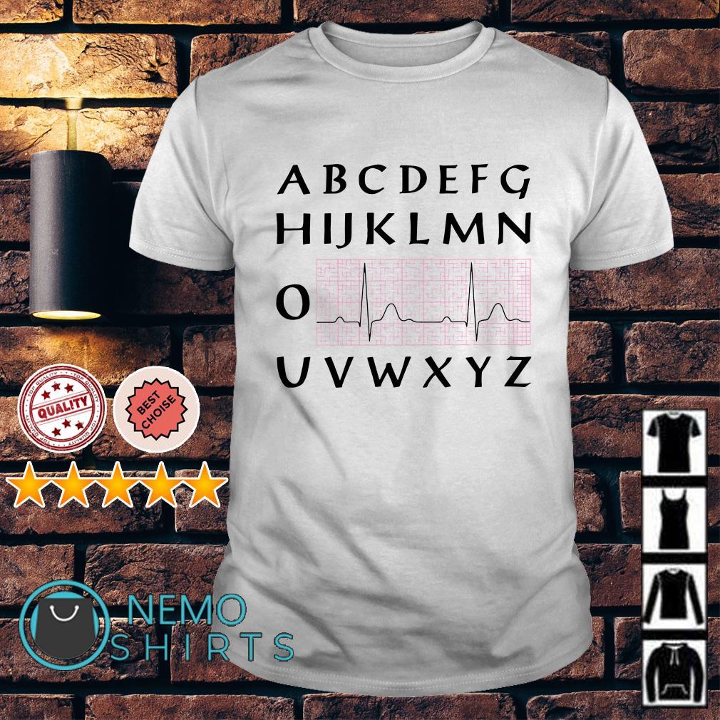 Nurse Alphabet Heartbeat shirt