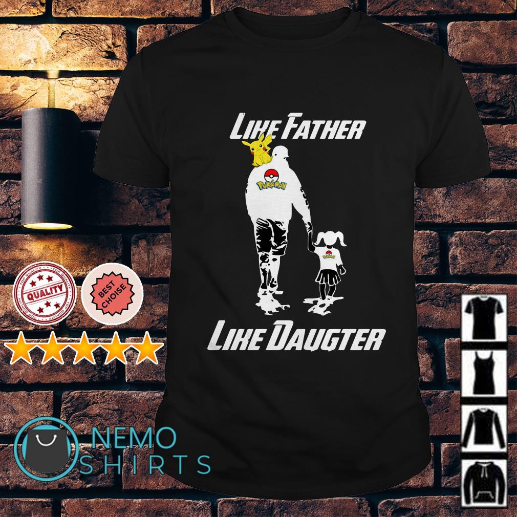 Pokemon Pikachu like father like daughter shirt