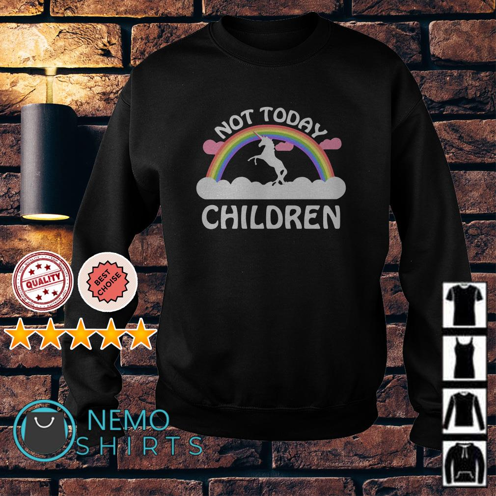 Rainbow Unicorn not today children Sweater