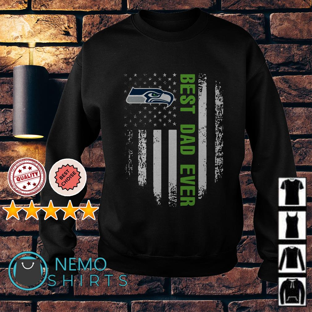 Seattle Seahawks best Dad ever independence day American flag Sweater