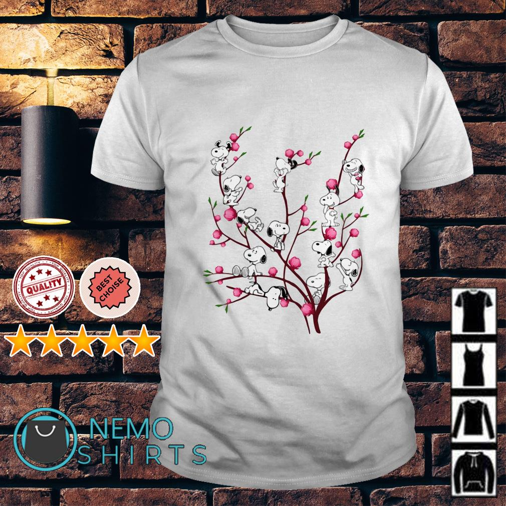 Snoopy on Peach Tree shirt