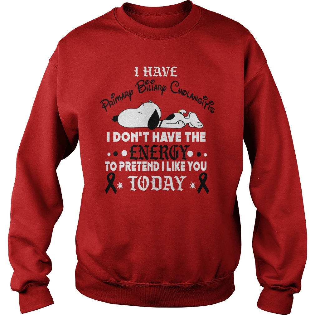 Snoopy I have primary biliary cholangitis I don't have the energy Sweater