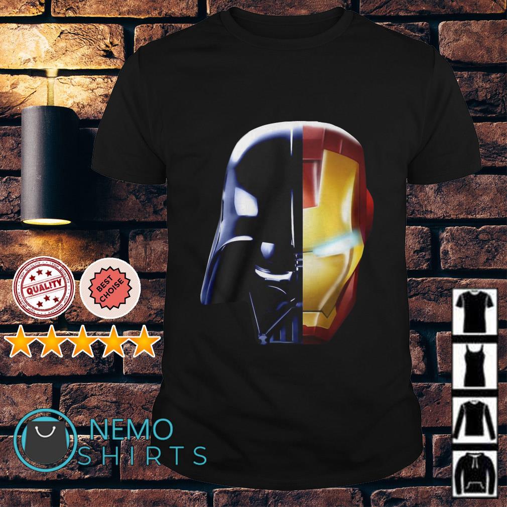 Star War Darth Vader and Avengers Iron Man shirt
