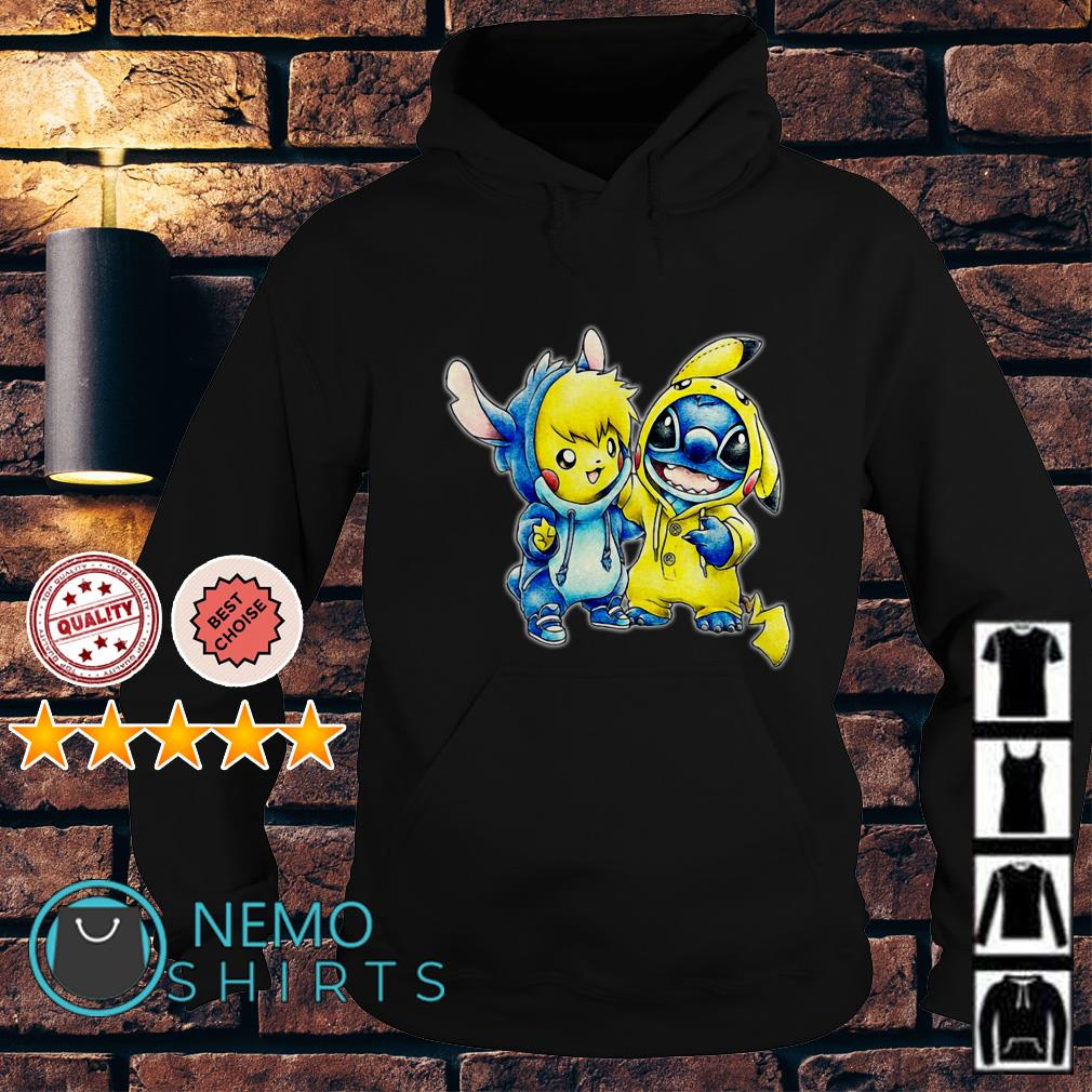 Stitch and Pikachu are best friends Hoodie