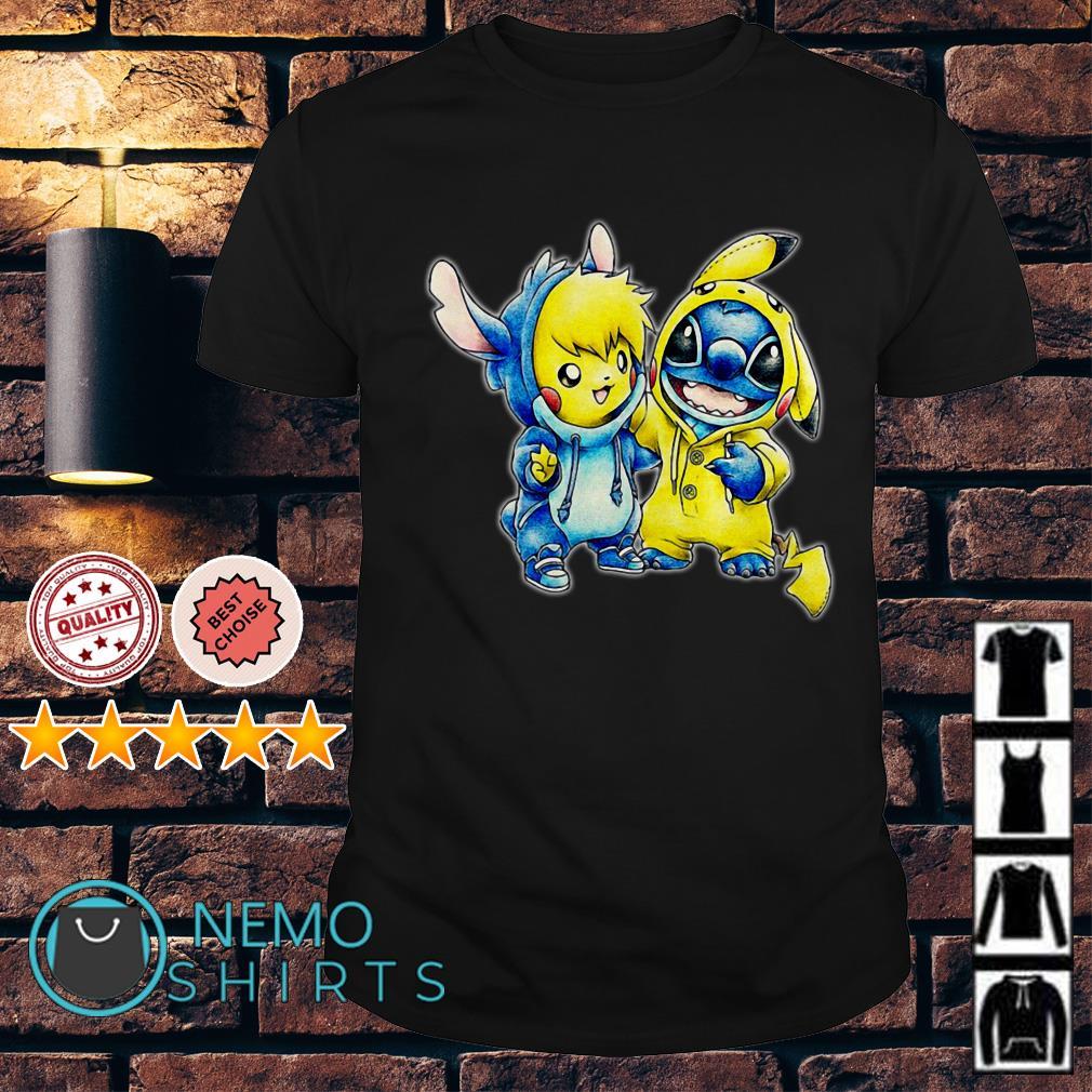 Stitch and Pikachu are best friends shirt
