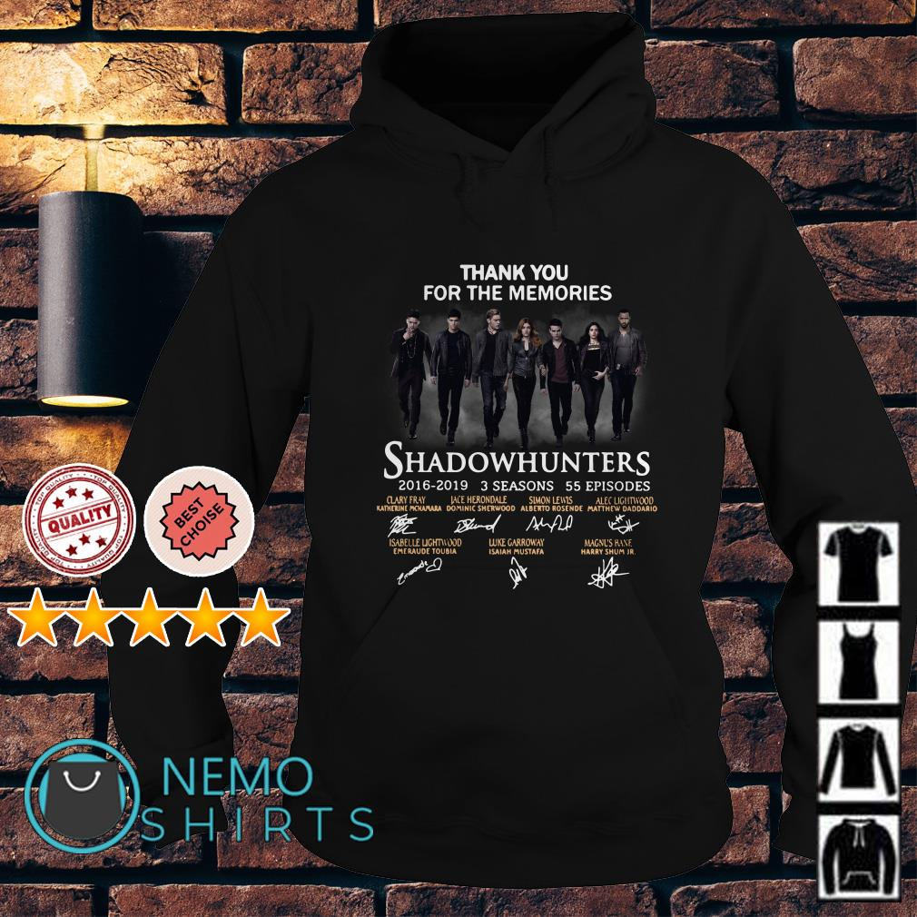 Thank you for the memories Shadowhunters signature Hoodie