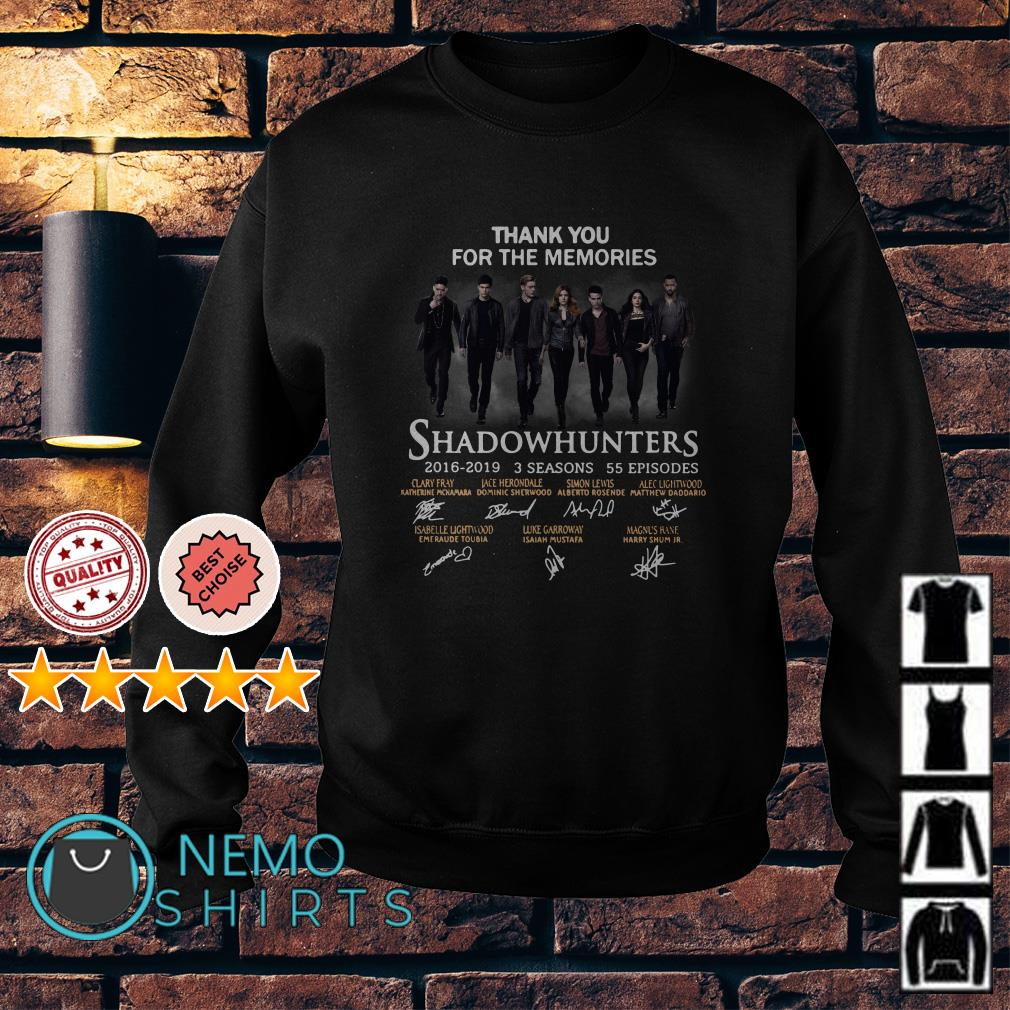 Thank you for the memories Shadowhunters signature Sweater