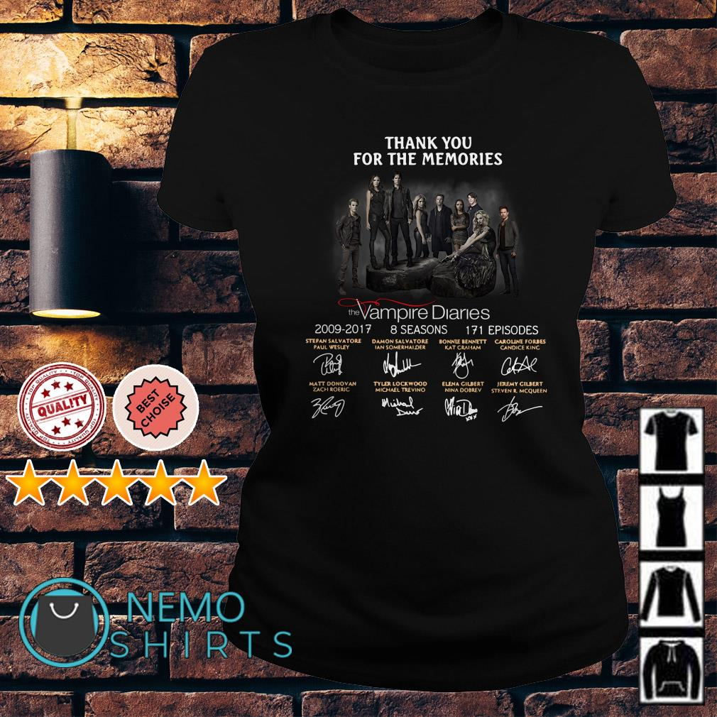 Thank you for the memories the Vampire Diaries signature Ladies tee