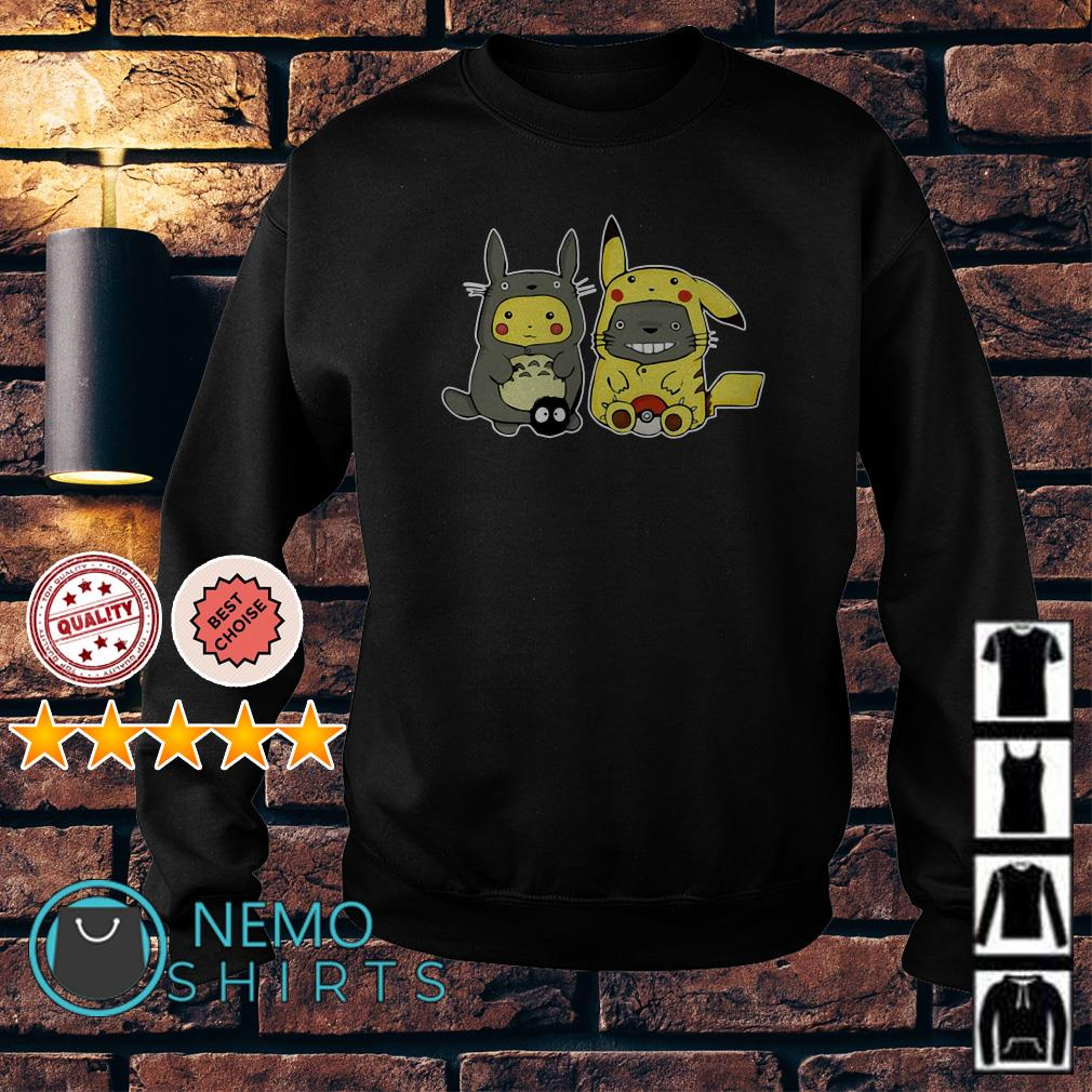Totoro and Pikachu are best friends Sweater